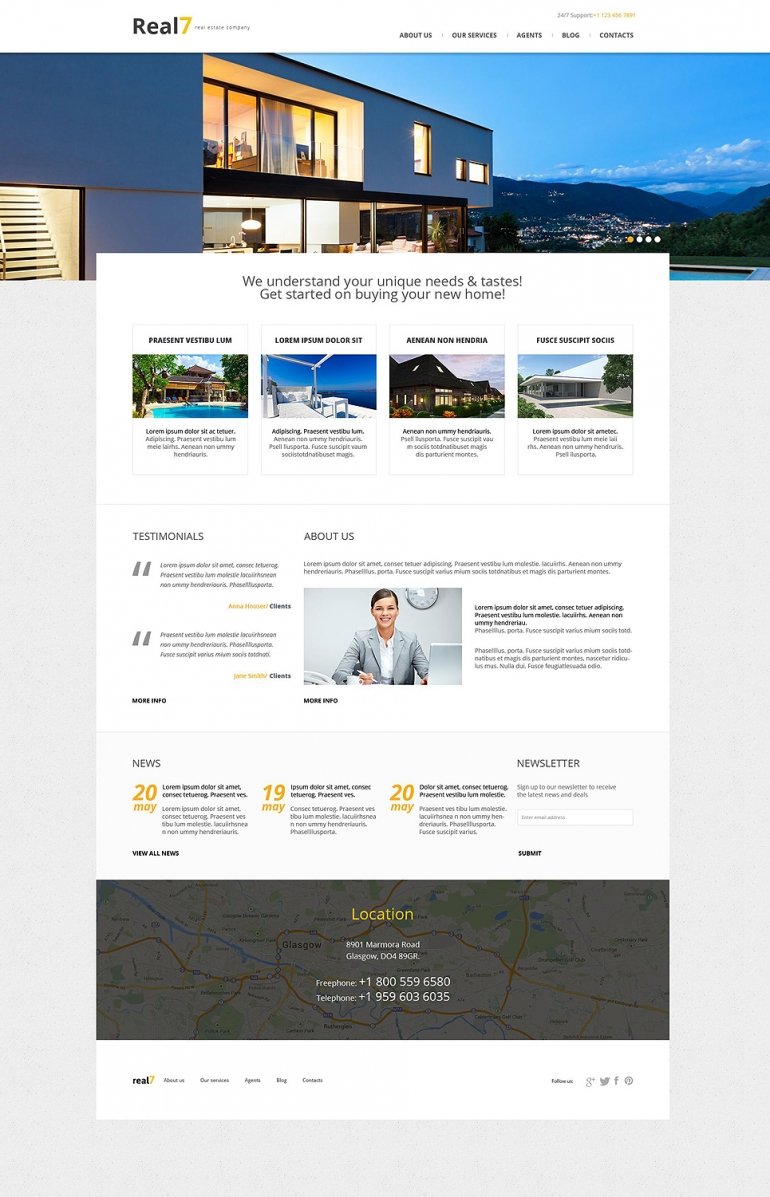 Real Estate Agency Responsive WordPress Theme