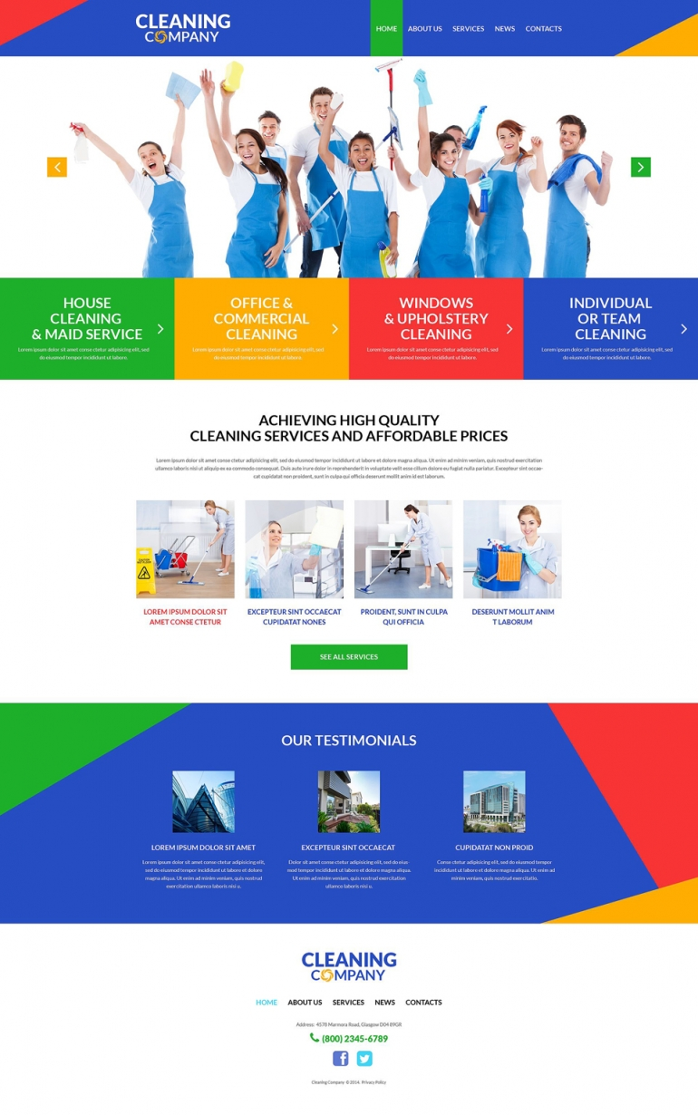 Top 40 off the shelf wordpress themes for business web template cleaning services for offices wordpress theme flashek Choice Image