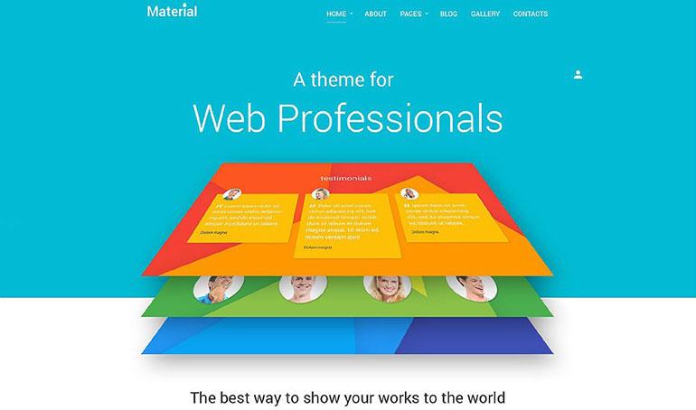 材料Joomla模板