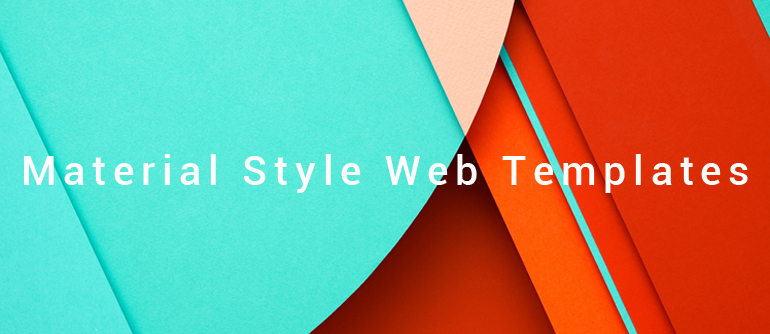 Material Style Web Templates from Web Design Library