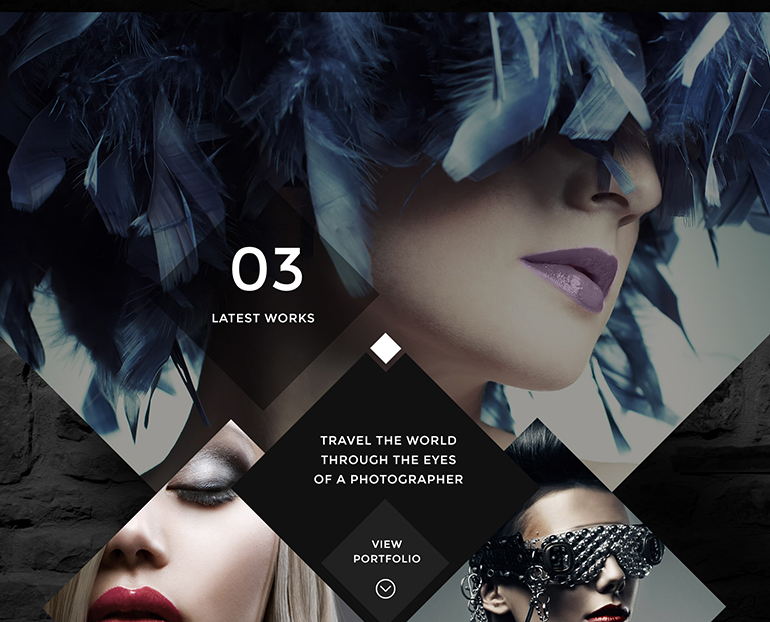 black web template