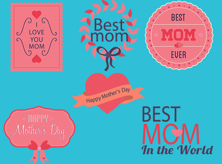 mothers day badges