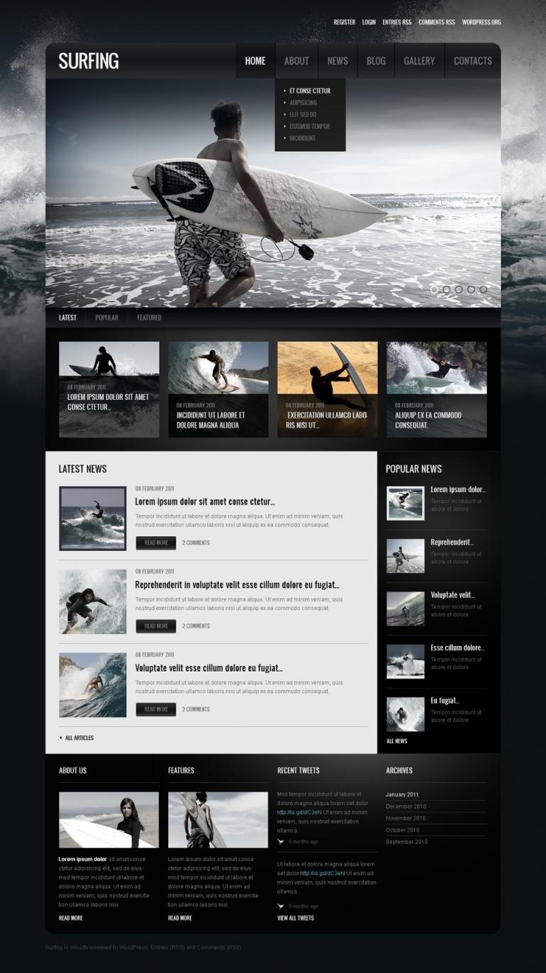 50 Motivating Sport WordPress Themes   Web Template Customization