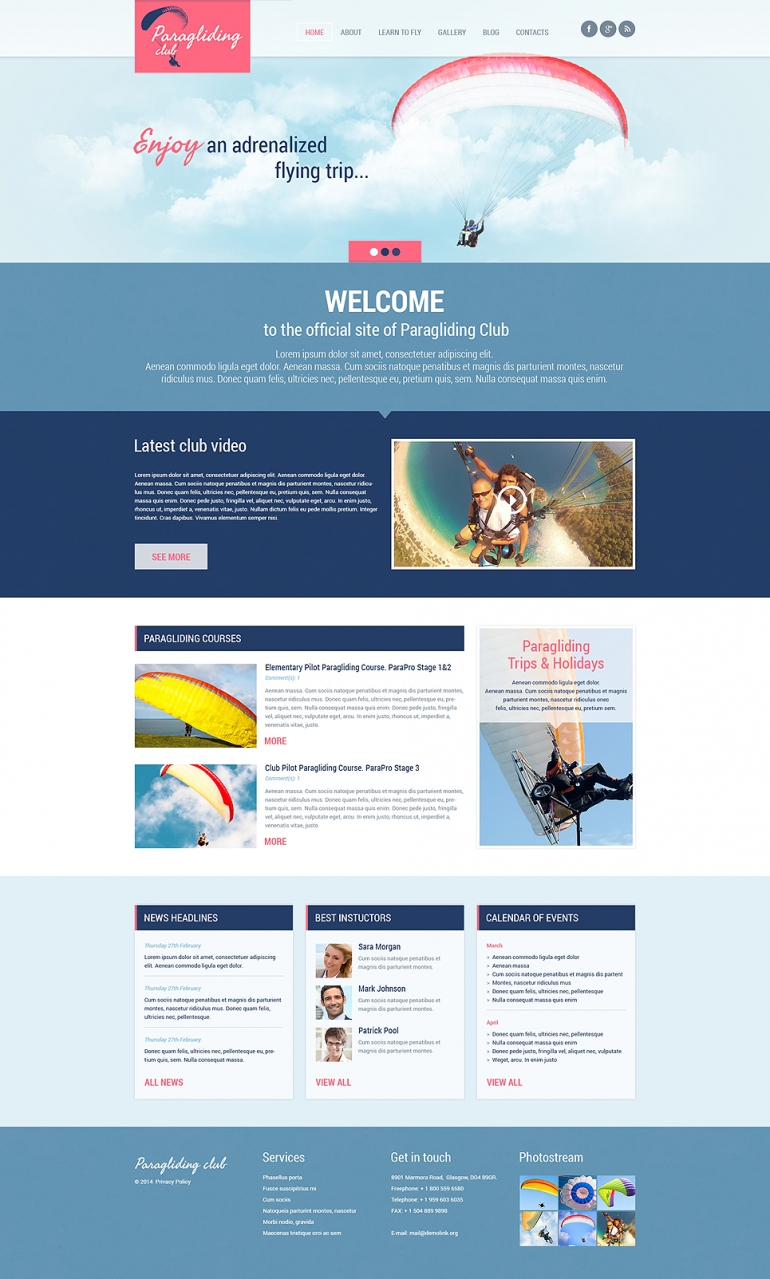 50 motivating sport wordpress themes web template customization paragliding responsive wordpress theme details demo maxwellsz