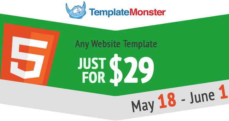 Spring Sale from Template Monster - 60% Off ALL Web Templates