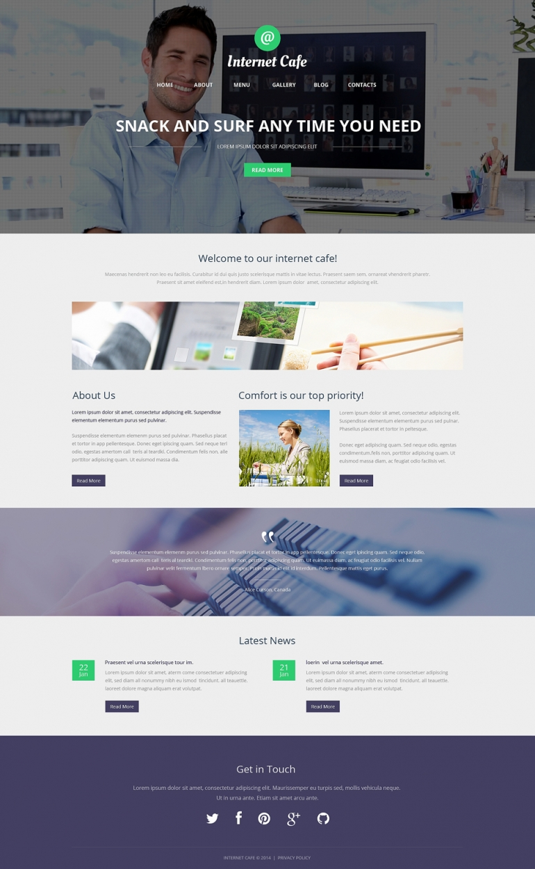 Internet Cafe WordPress Theme