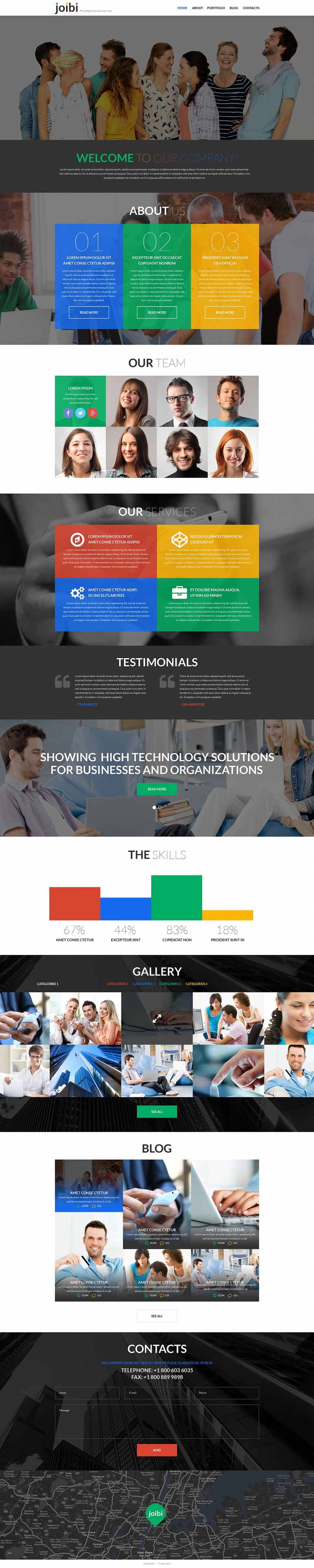 Business Services Promotion WordPress Theme