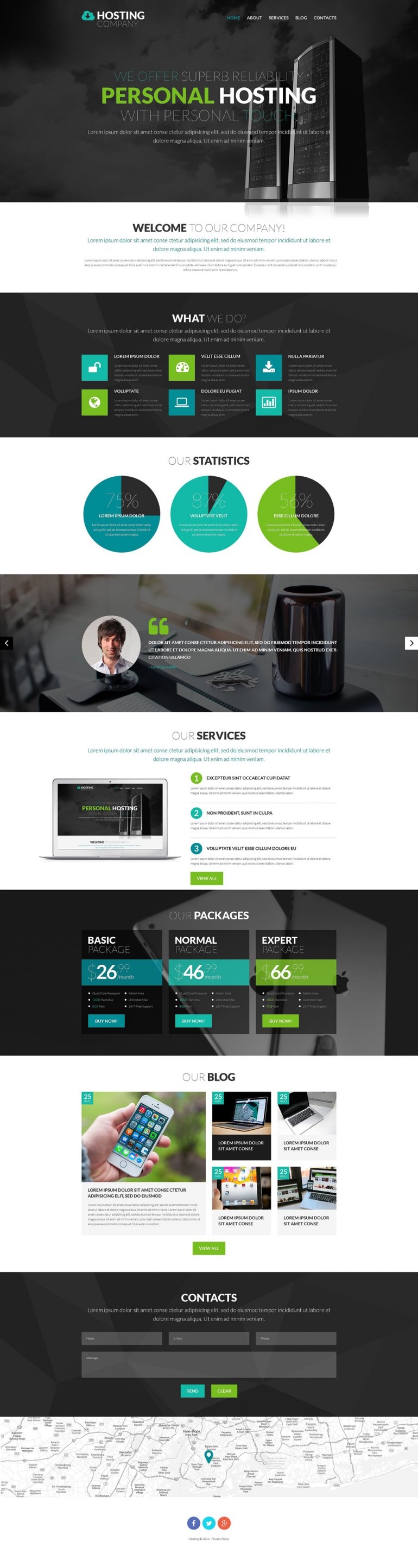 Hosting Provider WordPress Theme