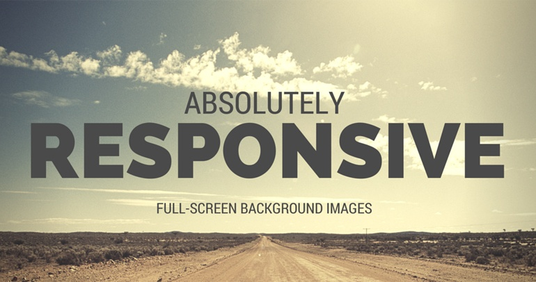 Absolutely Responsive Full-Screen Background Images