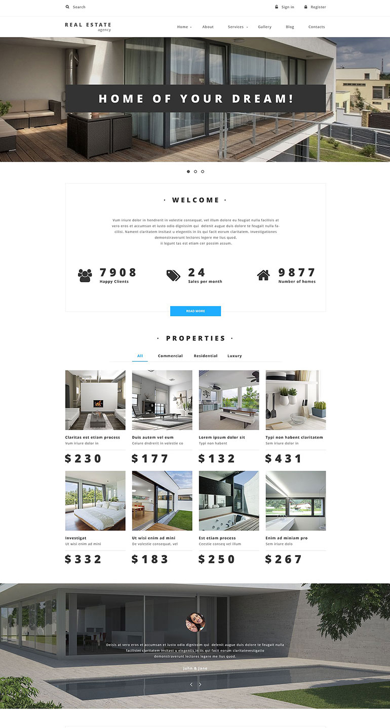 Real Estate Drupal Template