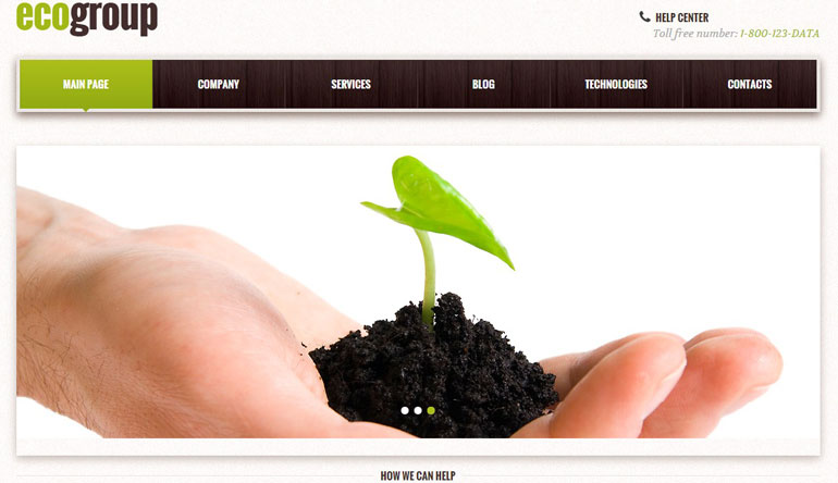 green power web template