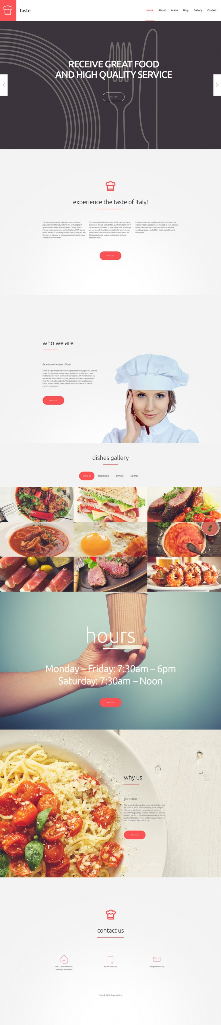 Food and Drink WordPress Theme