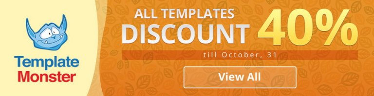 Fall Sale. Save 40% on any Purchase from TemplateMonster!
