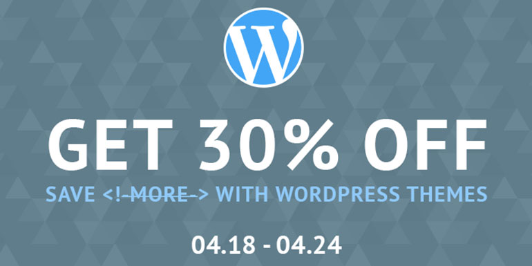 Awesome WordPress Themes With 30% OFF