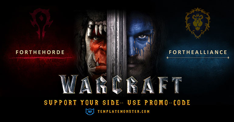 TemplateMonster Warcraft Promo: Save 15% on Any Theme with Horde or Alliance!