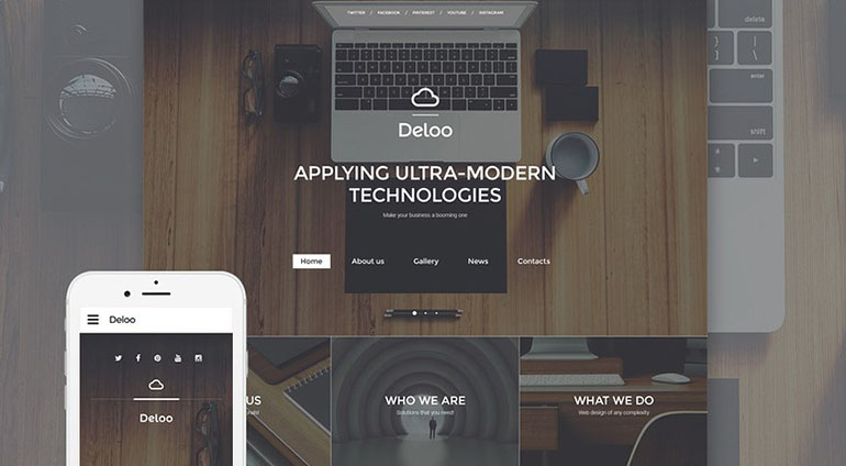 web designer website template