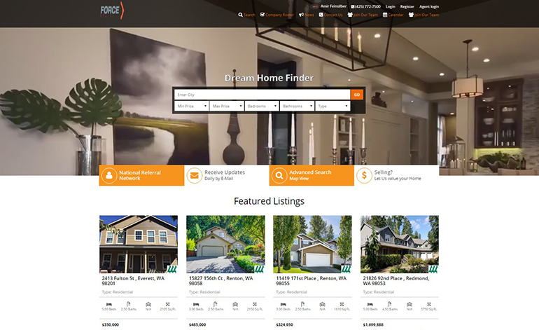 Exploring trends in real estate website design in 2016 for Home design websites
