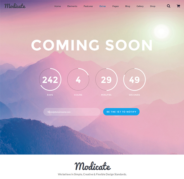 modicate-coming-soon-page