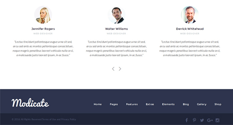 modicate-minimal-dark-footer