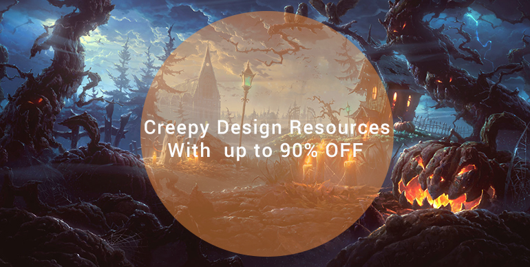 Creepy Design Resources For Halloween With  up to 90% OFF