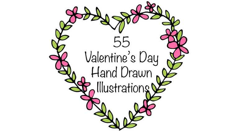 Free Valentine's Day Hand Drawn Illustrations, Exclusively for You!