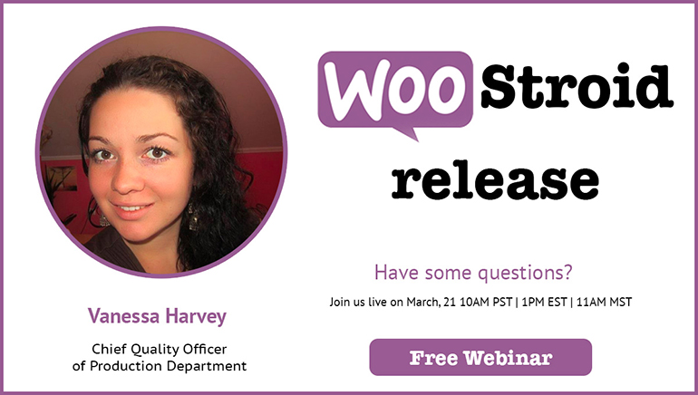 Free webinar: TemplateMonster new Woocommerce Theme Presentation