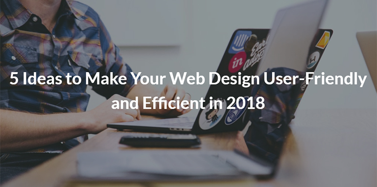 5 Ideas to Make Your Web Design User-Friendly and Efficient in 2018