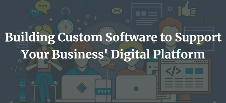 Building Custom Software to Support Your Business' Digital Platform