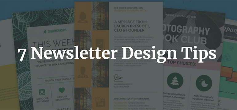7 Newsletter Design Tips
