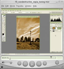 Nondestructive Sepia Toning (video tutorial)