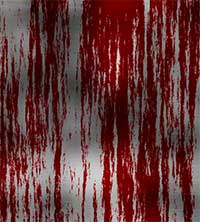 Dripping Blood on Metal