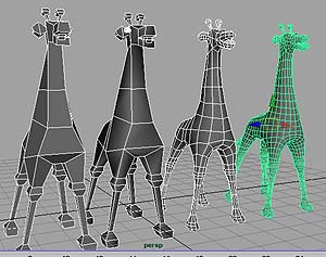 Model a GIRAFFE From a Polygonal Cube Tutorial: Final Result