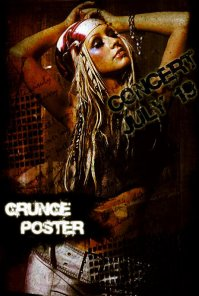 Christina Aguilera Dirty Grunge Poster