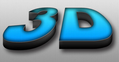3D Text Effect Using Photoshop