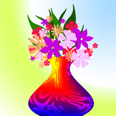 Nice Flower Picture on Creating A Flower Vase   Drawing Techniques